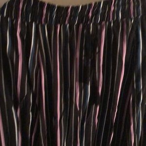 Stripped Skirt with splits .